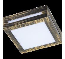 Ecola GX53 LED 3082W светильник накладной IP65 матовый Квадрат металл. 1*GX53 Черненая бронза