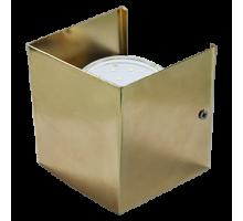 Ecola GX53-N51 светильник настенный бра прямоугольный золото 1* GX53  (упаковка 2шт)