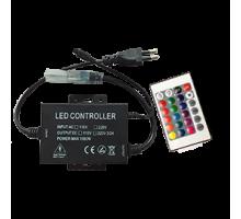 Ecola Контроллер 1500W 6,6A для ленты 220V 16x8 IP68 с инфракрасным пультом