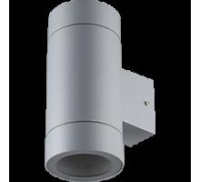 Ecola GX53 LED 8013A светильник накладной IP65 прозрачный Цилиндр металл. 2*GX53 Серый матовый
