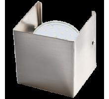 Ecola GX53-N51 светильник настенный бра прямоугольный сатин-хром 1* GX53  (упаковка 2шт)