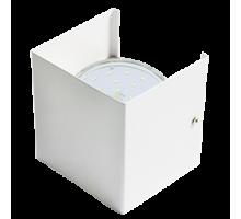 Ecola GX53-N51 светильник настенный бра прямоугольный белый 1* GX53  (упаковка 2шт)