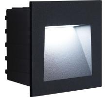 Светодиодный светильник Feron LN013 встраиваемый 3W 4000K, IP65, черный