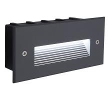 Светодиодный светильник Feron LN012 встраиваемый 5W 4000K, IP65, серый